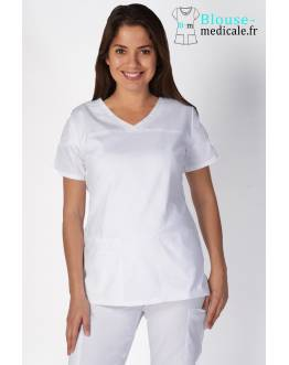 Tunique Medicale Femme Cherokee Blanc 4727