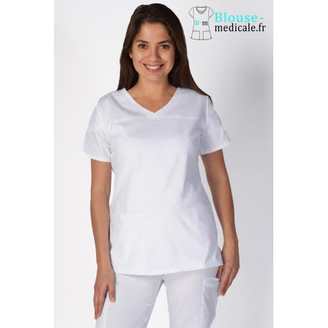 Tunique Medicale Cherokee Femme Blanc 4727