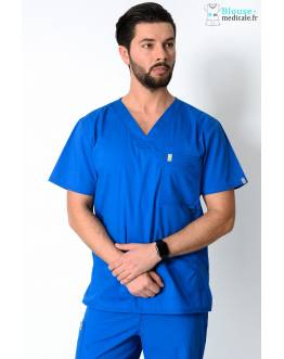 Tunique Medicale Homme Code Happy Bleu Royal 16600AB