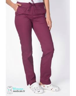 Pantalon Medical Cherokee Femme Bordeaux 4203