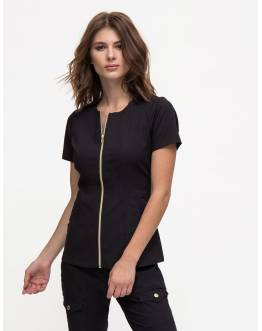 "Tunique Jaanuu ""Biker Top"" Noir"
