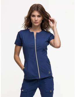"Tunique Jaanuu ""Biker Top"" Bleu Marine"