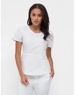 "Tunique Jaanuu ""Peplum Top"" Blanc"