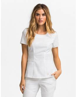 "Tunique Jaanuu ""Pintuck Top"" Blanc"