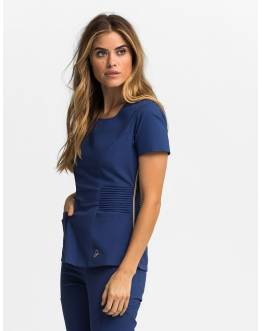 "Tunique Jaanuu ""Pintuck Top"" Bleu Marine"
