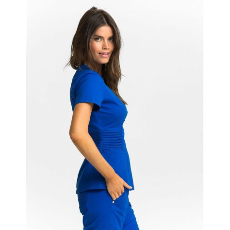 "Tunique Jaanuu ""Pintuck Top"" Bleu Royal"