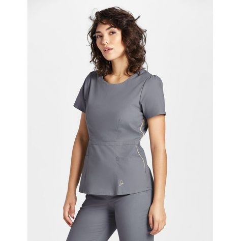 "Tunique Jaanuu ""Peplum Top"" Gris clair"