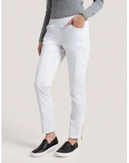 "Pantalon Jaanuu ""Moto Pant"" Blanc Collection Jolie"