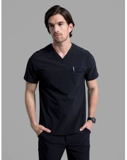 "Tunique Jaanuu Homme ""Refined V-Neck Top"" Noir Ancienne Collection"