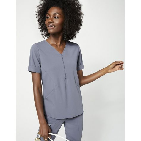 """Tunique Jaanuu """"Relaxed Cuff Sleeve Top"""" Gris Clair Collection Hudson"""