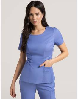 "Tunique Jaanuu ""Pintuck Top"" Bleu Ciel Collection Jolie"