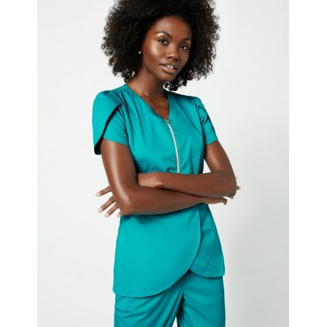 "Tunique Jaanuu ""Tulip Top"" Turquoise Collection Jolie"