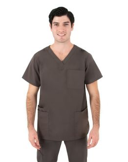 Tunique Medicale Homme Life Threads 2410 Gris Anthracite